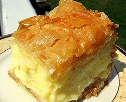 galaktoburiko Greek pastry